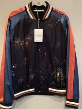 Valentino Souvenir Full Zip Jacket Cosmic Firework Print Rockstud NEW Sz 52 / 42