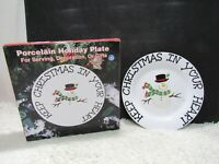 1998 LTD Commodities, Porcelain Holiday Plate, For Serving Decoration Or Gifts