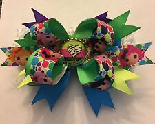 Beautiful Lalaloopsy Inspired handmade Girls boutique Style bottle cap hair bow