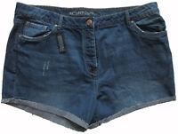 New Womens Blue Boyfit NEXT Shorts Size 18 RRP £24