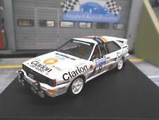 AUDI Quattro Rallye RAC GB 1985 #8 Eklund Cederberg Clarion 4th Trofeu 1:43