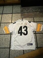 Troy Polamalu Pittsburgh Steelers #43 Sewn Reebok Adult 50 White Jersey!!!