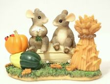 Charming Tails 85/882 Harvest Time Honeys Mouse Couple Harvest Figurine In Box