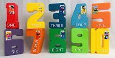 Tyco Sesame Street Numbers Textured Number Blocks Vintage Large Plastic FREE SH