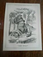 PROROGATION, FORTY WINKS Political Satire - Original Print From Punch 1895 §PP41