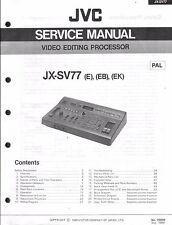 JVC original Service Manual para JX-SV 77 con adiciones