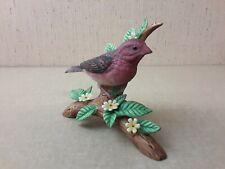 Danbury Mint 12 Songbirds Purple Finch Figurine