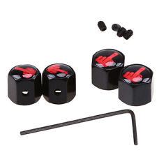 X4 S-Line Negro Neumático Tapas anti polvo conjunto de bloqueo robo Tapas De La Válvula Audi Acero