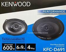 "NEW Kenwood KFC-D691, 6""x9"" 4-Way Coaxial Car Audio Speakers (PAIR) 6x9"