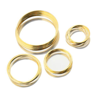 20X Silver Plated Gold Circle Round Hoop Earrings Link O Ring Charms Connectors