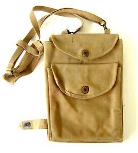 WW2 Prewar NAMED US MARINE OFFICER Folding Web Dispatch Map Case Bag