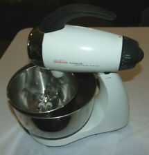 White SUNBEAM Mixmaster Heritage Series Model 2350 Stand MIXER w/Bowls & Beaters