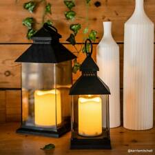 Battery Power Outdoor LED Flickering Candle Lantern | Indoor Home Garden