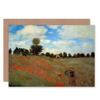 Claude Monet Les Coqueliquots Old Master Painting Blank Greeting Card