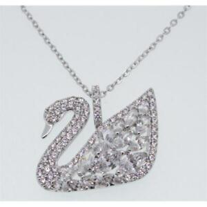 Swarovski Women's Necklace with Pendant Swan Lake Rhodium Silver Crystal 5169080