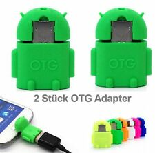 2xA1 grün  OTG USB Adapter Micro USB Samsung Galaxy S3 S4 S5 S6 S7 Note 2 3