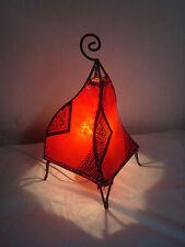 Attraente lampada da tavolo Marocchino. Rosso con HENNA DESIGNS etnico da comodino luce