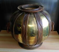 Vase de décoration Art déco en bois