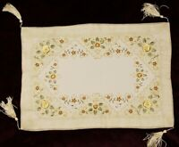 Embroidered Embroidery Table Placemats Runner Holiday Party Thanksgiving Fall