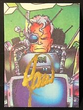 CABLE 1993 Parody Press Promo Card BILL MAUS Signed Gold Ink AUTOGRAPH Rare