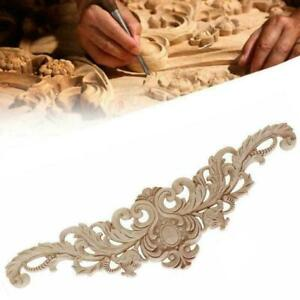 Unpainted Frame Decal Home Furniture Wood Durable Carved Onlay V9W5 Corner Fast