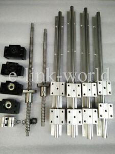 SBR16--1500/2000mm Linear  rail&RM1605-1500/2000mm Ballscrew &BF12/BK12 Kit