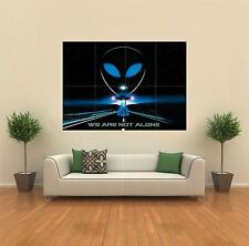 WE ARE NOT ALONE UFO ALIEN NEW GIANT POSTER WALL ART PRINT PICTURE G518