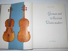 """Vintage Old Antique """"German & Austrian Violin Makers"""" Violin Reference Book"""