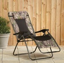 Zero Gravity Camo Chair Camping Hiking Furniture Holds 500lbs Outdoor Chair New