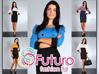 Women's Stylish Casual Dress Boat Neck Buttons 3/4 Sleeve Sizes 8-14 FA34