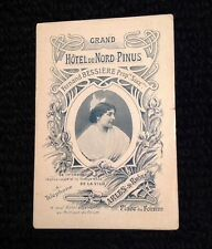 Early 1900s Grand Hotel Du Nord Pinus Arles France Advertising Brochure With Map