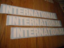 """THREE  28"""" x 3.5"""" INTERNATIONAL HARVESTER DECAL STICKER DIESEL TRUCK ANY COLOR"""