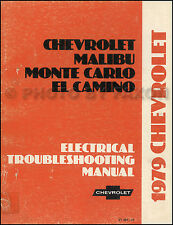 1979 Chevy Electrical Troubleshooting Manual El Camino Malibu Monte Carlo