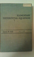 Elementary Differential Equations by Lyman M. Kells (1965, Hardcover)