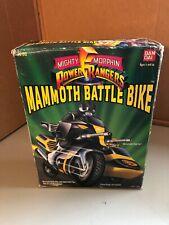 Vintage 1994 Bandai Power Rangers Zack Mammoth Battle Bike Sabertooth Sidecar