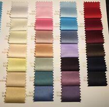 """Peau-De-Soie medium weight Matt Satin wedding dresses fabric 58"""" Wide MK965"""