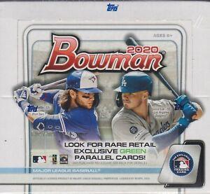 2020 Bowman Baseball sealed Retail Box 24 packs of 12 cards