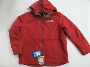 Columbia Roughtail PHG Work Hooded  man red jacket sz L Brand New $100