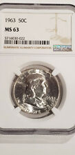 1963 Franklin Half Dollar Certified NGC MS-63 - Nice !