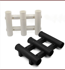 3 Tube Fishing Rod Holder Pole Rest Rack Bracket Mount For Marine Boat Fishing