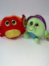 LOT OF 2 PLUSH Lubby Cubbies CRAB & TURTLE  Kids Stuffed Animal TOY