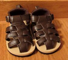 Newborn new size 2 Carter's 3-6 months brown sandals Reborn baby doll acessory
