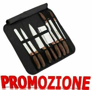 SET 9 COLTELLI PROFESSIONALI DA CHEF ACCIAIO INOX 18/10 Royalty Line