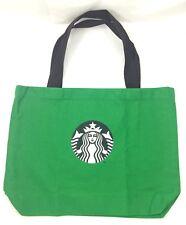 THAI STARBUCKS COFFEE GREEN TOTE ECO BAG BROWN STRAP CANVAS LOGO PURSE SHOULDER