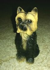 Mini Yorkshire Terrier Dog Hand Painted Poly-Resin Figurine  NEW