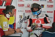 Yonny Hernandez Hand Signed Pramac Ducati 12x8 Photo 2015 MotoGP 9.