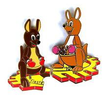 """Globo """"Special shape"""" pin/Pins-Kangaroo family rompecabezas/2 pins!!! [3789]"""