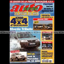 AUTO VERTE N°235 MAZDA TRIBUTE MERCEDES ML 55 AMG LEXUS RX 300 V6 FRONTERA 2000