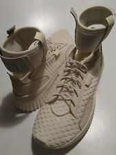 Puma Fenty by Rihanna Trainer Mid Geo knit Sneakers Beige Womens 191231 sz 10