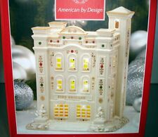 Lenox Mistletoe Park Fire Brigade Lighted Village Treasures Firehouse New